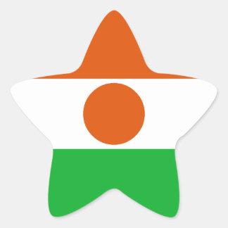 Niger Flag Star Sticker