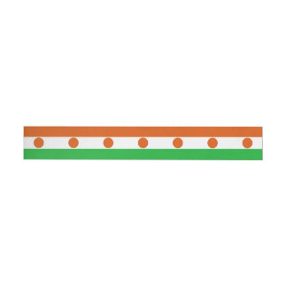 Niger Flag Wraparound Address Label