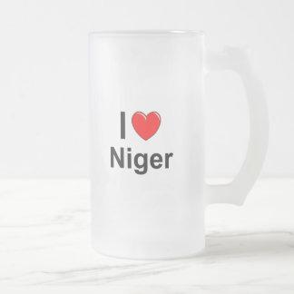 Niger Frosted Glass Beer Mug