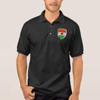 Niger Metallic Emblem Polo Shirt