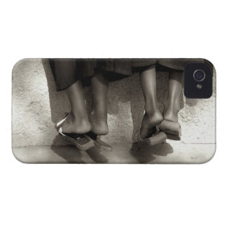 Niger, Niamey, Feet, plastic slippers and long Case-Mate iPhone 4 Cases