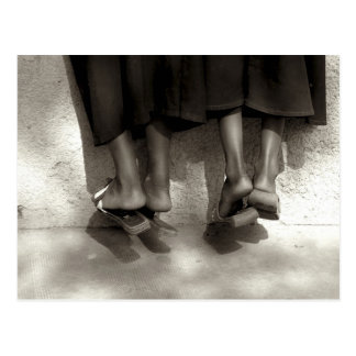 Niger, Niamey, Feet, plastic slippers and long Postcard