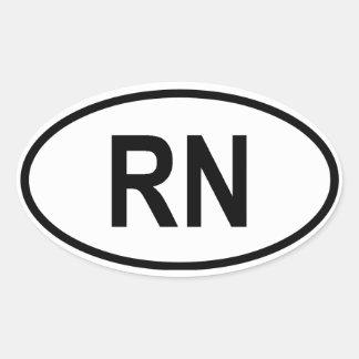 "Niger ""RN"" Oval Sticker"