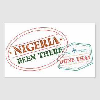 Nigeria Been There Done That Rectangular Sticker