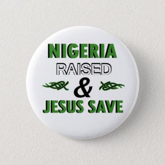 Nigeria design 6 cm round badge