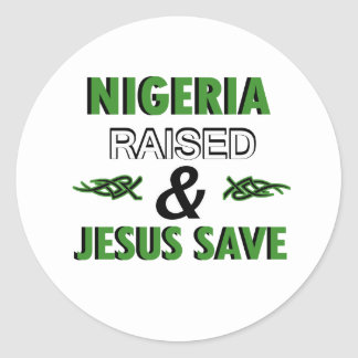 Nigeria design classic round sticker