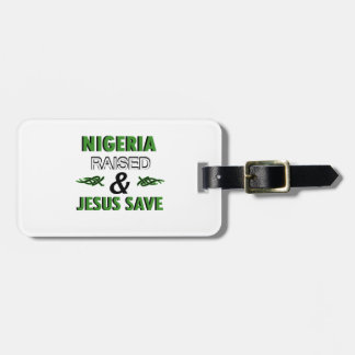 Nigeria design luggage tag