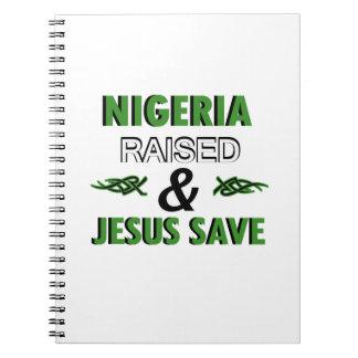 Nigeria design spiral notebook