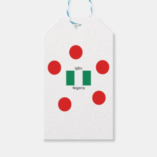Nigeria Flag And Igbo Language Design Gift Tags