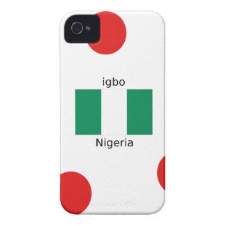 Nigeria Flag And Igbo Language Design iPhone 4 Case-Mate Cases