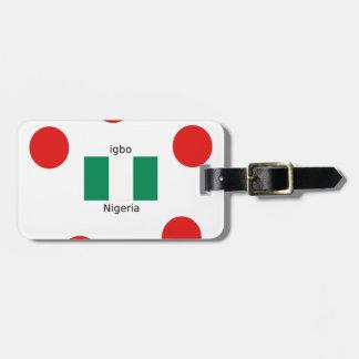 Nigeria Flag And Igbo Language Design Luggage Tag