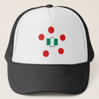 Nigeria Flag And Igbo Language Design Trucker Hat