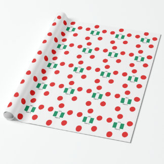 Nigeria Flag And Igbo Language Design Wrapping Paper