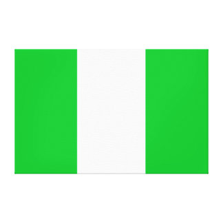 Nigeria Flag Canvas Print