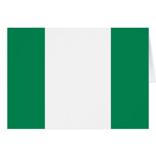 Nigeria flag greeting card