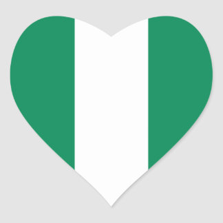Nigeria Flag Heart Sticker