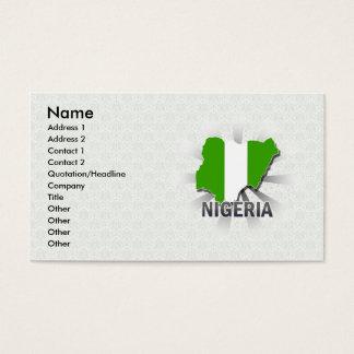 Nigeria Flag Map 2.0 Business Card