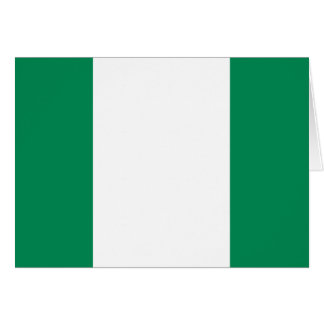 Nigeria flag note card