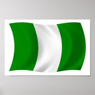 Nigeria Flag Poster Print