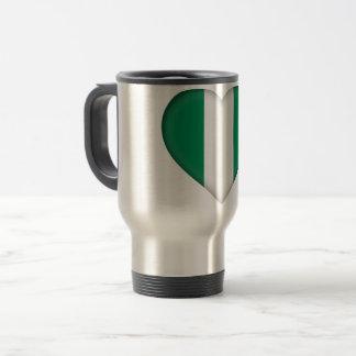 Nigeria Flag Travel Mug