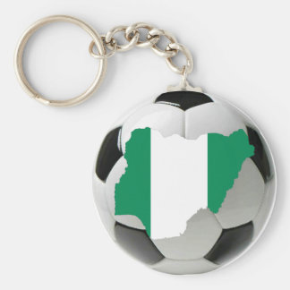 Nigeria football soccer basic round button key ring