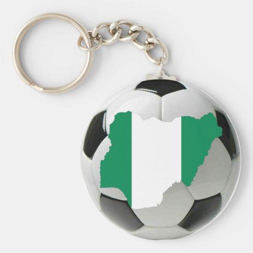 Nigeria football soccer keychains
