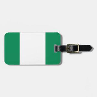 Nigeria National World Flag Luggage Tag