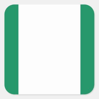 Nigeria National World Flag Square Sticker