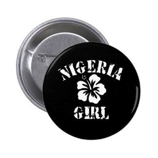 Nigeria Pink Girl Pinback Buttons