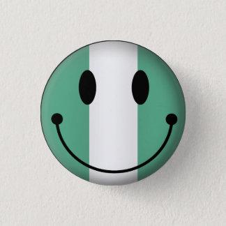 Nigeria Smiley 3 Cm Round Badge