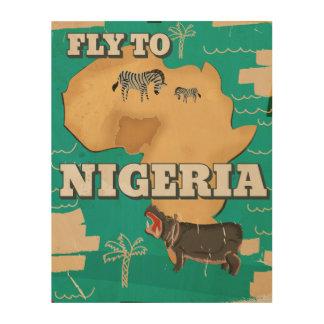 Nigeria Vintage Travel poster Wood Canvas