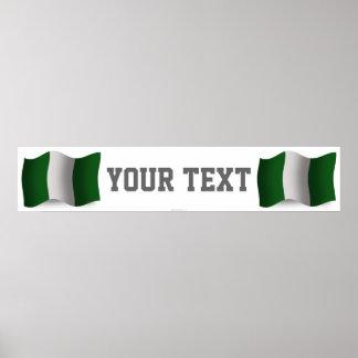 Nigeria Waving Flag Banner Poster