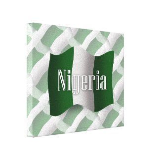 Nigeria Waving Flag Canvas Print