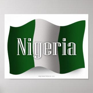 Nigeria Waving Flag Poster