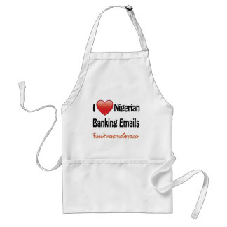 Nigerian Banking Email Humor Aprons