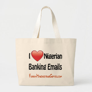 Nigerian Banking Email Humor Canvas Bag