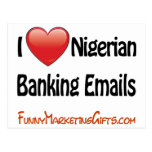 Nigerian Banking Email Humour Post Card