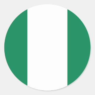 Nigerian flag classic round sticker