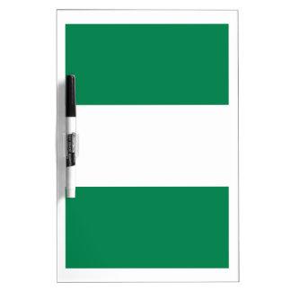 Nigerian flag dry erase board