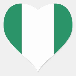 Nigerian flag heart sticker