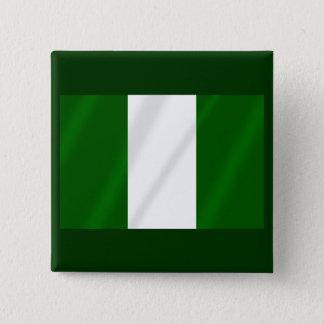 Nigerian flag of Nigeria shirts and presents 15 Cm Square Badge