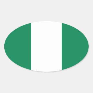 Nigerian flag oval sticker
