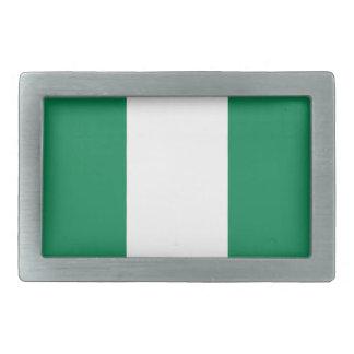 Nigerian flag rectangular belt buckles