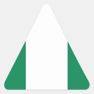 Nigerian flag triangle sticker