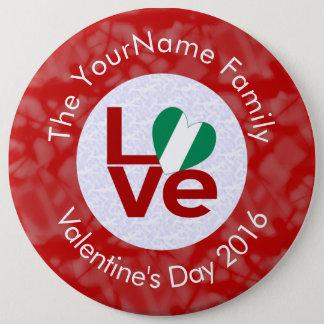 Nigerian LOVE White on Red 6 Cm Round Badge