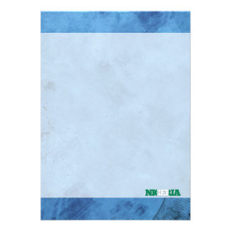 Nigerian name and flag on cool wall 13 cm x 18 cm invitation card