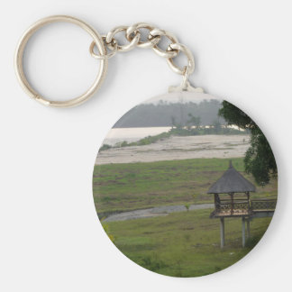 Nigerian View Basic Round Button Key Ring