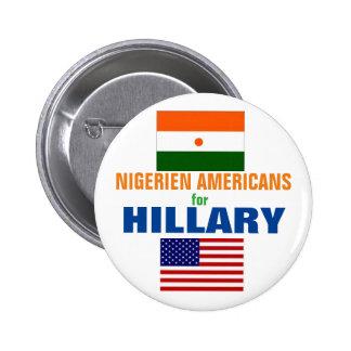 Nigerien Americans for Hillary 2016 6 Cm Round Badge