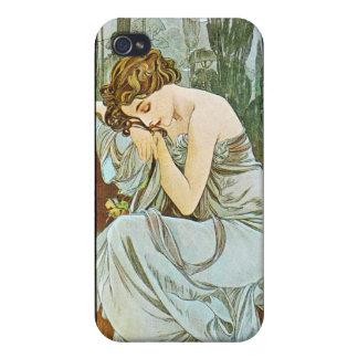 Night, Alphonse Mucha iPhone 4/4S Case