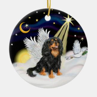 Night Angel - Cavalier King Charles (tri) Ceramic Ornament